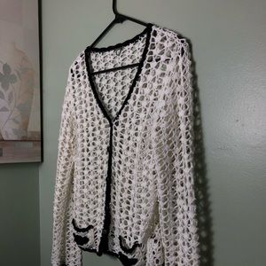 "ANTHRO.,EUC ""ONE GIRL WHO"" KNITTED CARDIGAN"